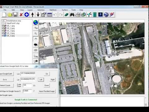 GIS Software Download Rectified Google Earth High Resolution Satellite image, Convert GIS to HTML