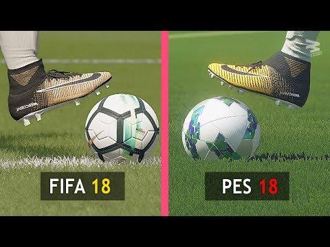FIFA 18 Vs PES 18: Graphics Comparison