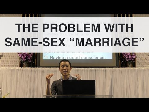 """The Problem with Same-Sex """"Marriage"""" 