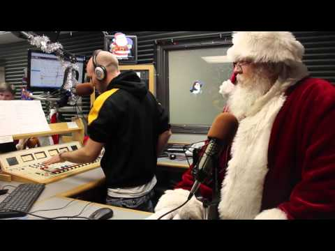 Santa Flips the Switch on Christmas Music at the KDAT Studio
