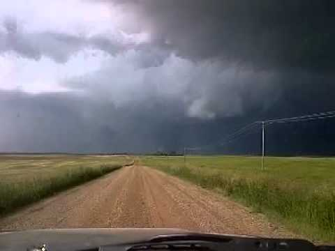 Archived footage from Ustream of Tornado West of Moose Jaw - June 26, 2012