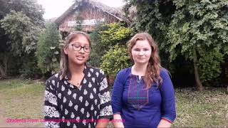 Students from Canada telling their experience at Parashar Agri tourism, Junnar
