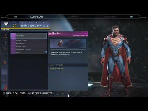 Injustice 2 - Superman  All Unlockable Abilities