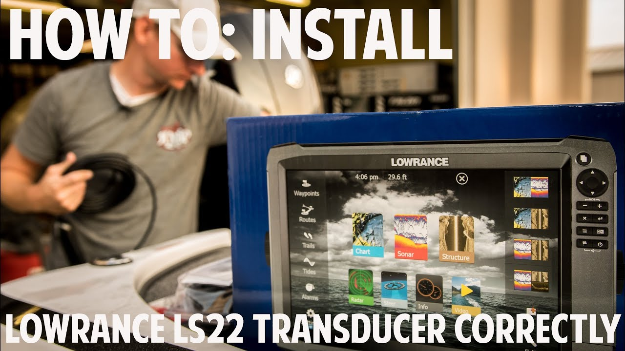how to install a lowrance lss2 transducer correctly [ 1280 x 720 Pixel ]