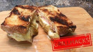 Toast Hawaii zubereiten im Lagerfeuer   Outdoor Küche