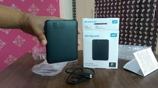 2 Tb WD Elements Portable Hard Drive Unboxing Review [HINDI]