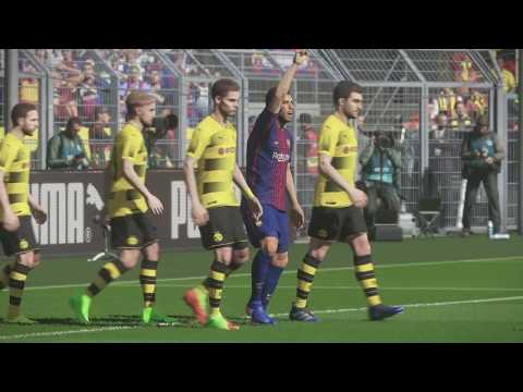 Gameplay Pro Evolution Soccer 2018 F.C.Barcelona - Borussia Dortmund