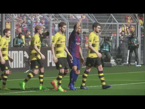 Gameplay Pro Evolution Soccer 2018 F.C.Barcelona - Borussia Dortmund