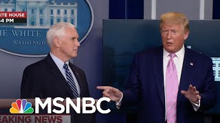 Trump: Pence Spoke 'For 5 Minutes' & Didn't 'Touch' Reporter's Question About Uninsured   MSNBC