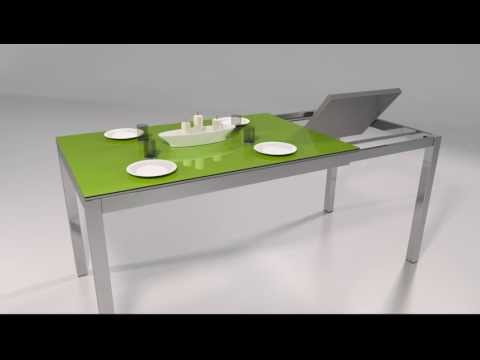 Mesa milenium patas desplazables extensible - YouTube