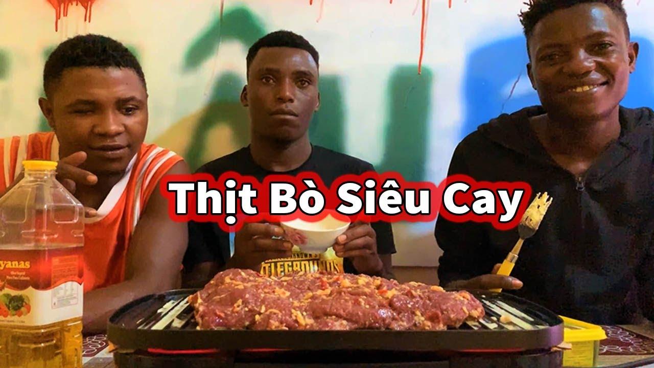 Team Châu Phi ll Thịt Bò Khổng Lồ Nướng Siêu Cay ( Anh Da Đen )