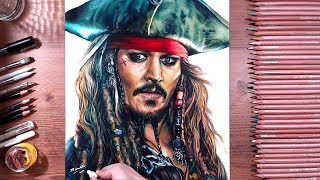 Drawing Jack Sparrow (Johnny Depp) | drawholic