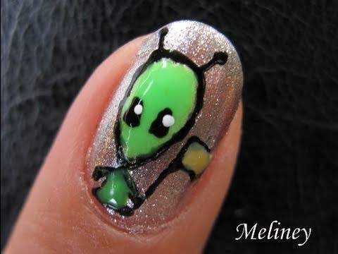 Cute halloween nail art pen tutorial little green men cute alien cute halloween nail art pen tutorial little green men cute alien invasion design for short nails meliney nail art prinsesfo Gallery