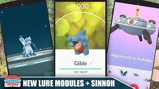 GIBLE IS LIVE HOW TO USE NEW LURE MODULES TO EVOLVE GLACEON ETC MORE SINNOH POKEMON POKEMON GO