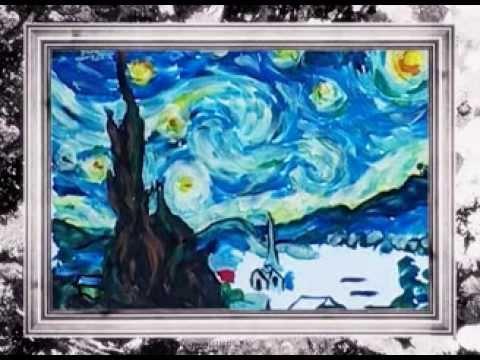 Пластилиновые шедевры  Звёздная ночь  Ван Гог