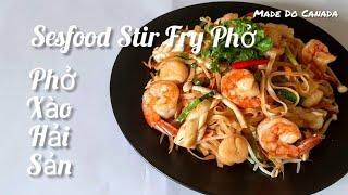 🇨🇦 Phở Xào Hải Sản // Seafood Stir Fry Noodles [ Eng, Sub ]. Cuộc Sống Canada.