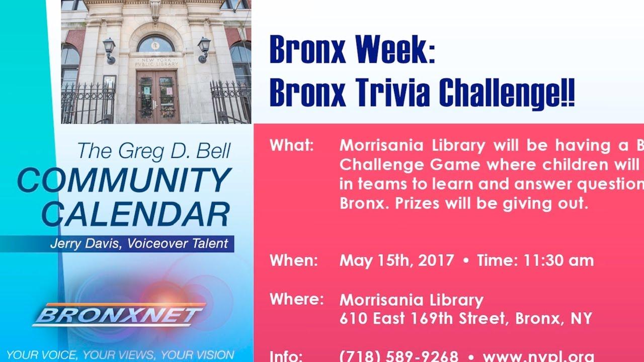 Community Calendar | May 9-15, 2017