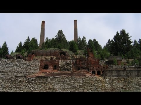 Ruins of Deidesheimer (Bi-Metallic) Ore Smelter - near Philipsburg, Montana MT