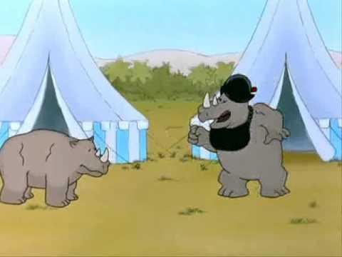 elephant vs rhino video