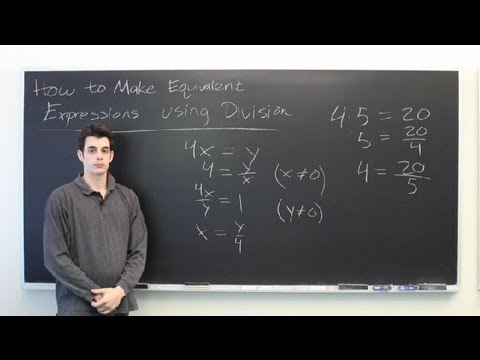 How to Make Equivalent Expressions Using Division : Mathematics: Division & More