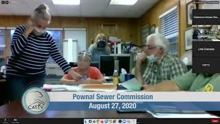 Pownal Sewer Commission // 08/27/20