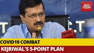 Delhi CM Arvind Kejriwal Unveils 5-Point Plan To Combat Coronavirus | Watch FULL