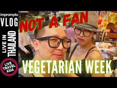 Bad Street Food Experience at Yaowarat Road Bangkok Thailand on Vegetarian Day