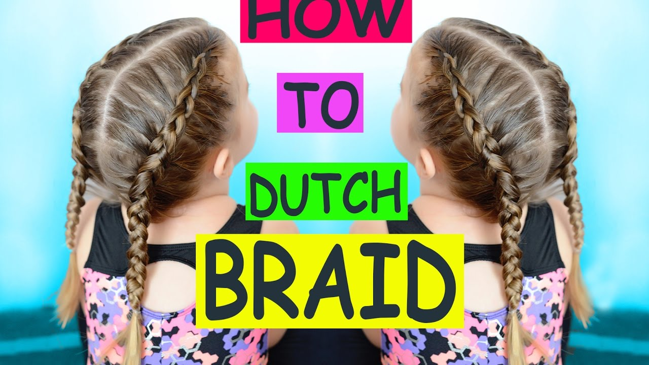 How to dutch braid , hair tutorial for beginners toddler hair
