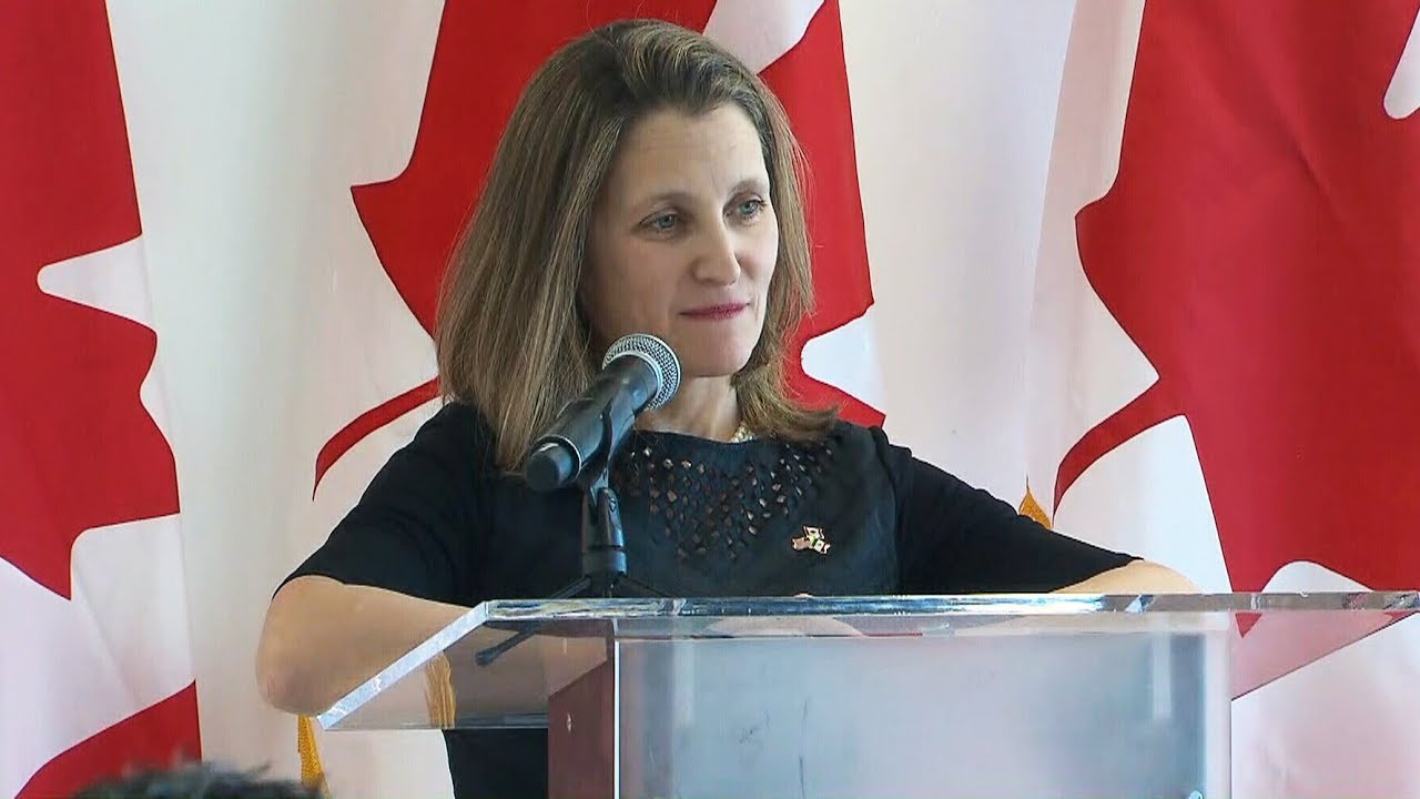 Canada will take 'necessary measures' against tariffs: Freeland