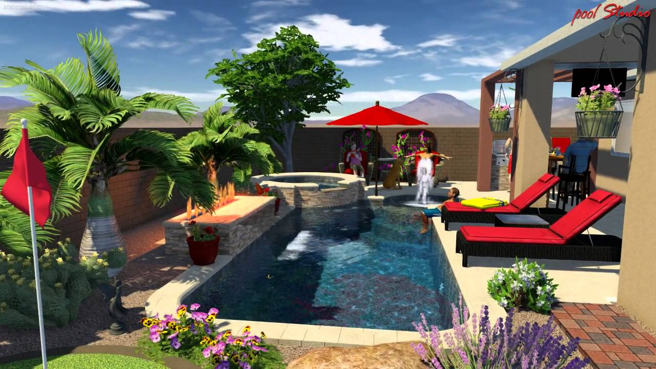 Design Of Swimming Pool pleasant swimming pool landscape pleasant backyard above ground pool landscaping ideas Pool Studio 3d Swimming Pool Design Software Youtube