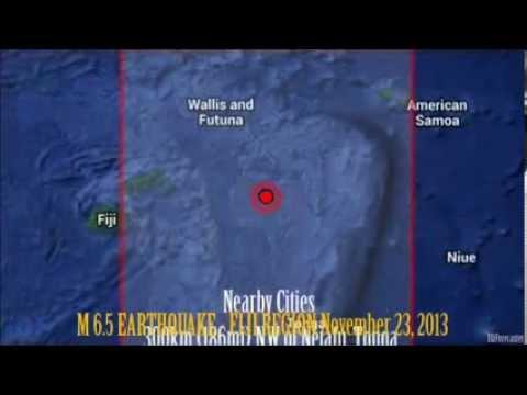 M 6.5 EARTHQUAKE -  FIJI REGION November 23, 2013