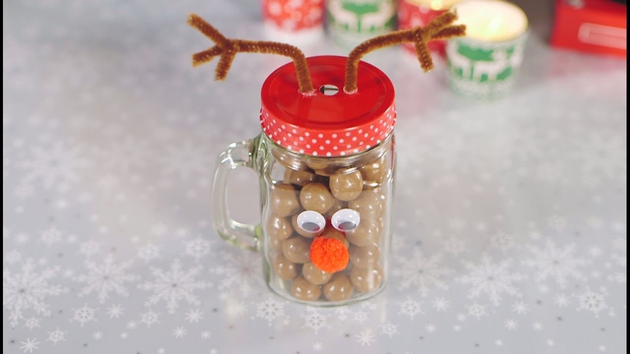 Reindeer Mason Jar Gift With Maltesers Youtube