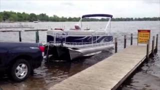 Loading a pontoon boat Thumbnail