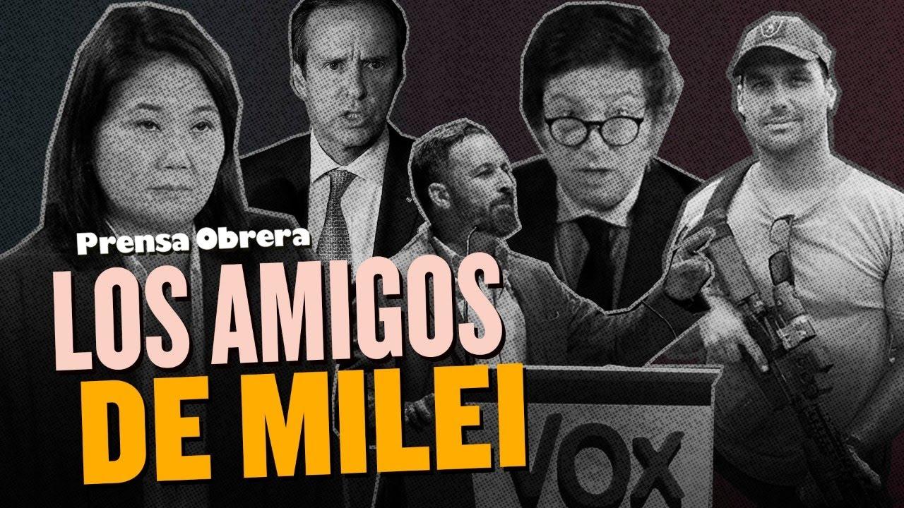 """Milei, un """"libertario"""" en un acto monárquico // Participó de Viva 21 de Vox"""