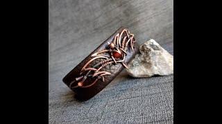 кожаный браслет женский ручной работы