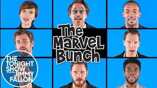 "The cast of Avengers: Infinity War sing their own version of ""The Brady Bunch"" theme song, ""The Marvel Bunch."" Subscribe NOW to The Tonight Show Starring ..."