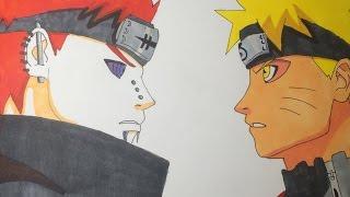Como dibujar A Naruto V/S Pain/ How To draw Naruto V/S Pain