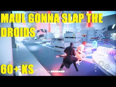 Star Wars Battlefront 2 - Darth Maul about to slap these teammates 60+ Maul Killstreak!