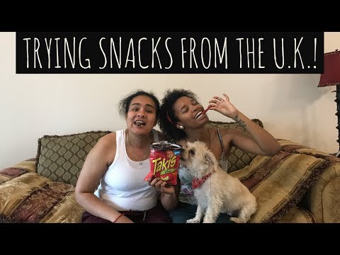 TRYING SNACKS FROM THE U.K.!