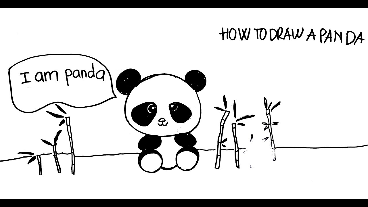 Uncategorized Step By Step How To Draw A Panda teaching kid to draw how a panda easy step by step