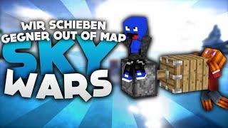 WIR SCHIEBEN DIE GEGNER OUT OF MAP! - Minecraft Sky Wars! | DieBuddiesZocken