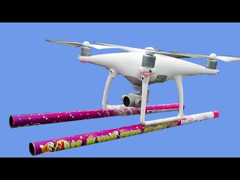 DJI Phantom 4 Drone Gets Super Weapon - Funny Experiment