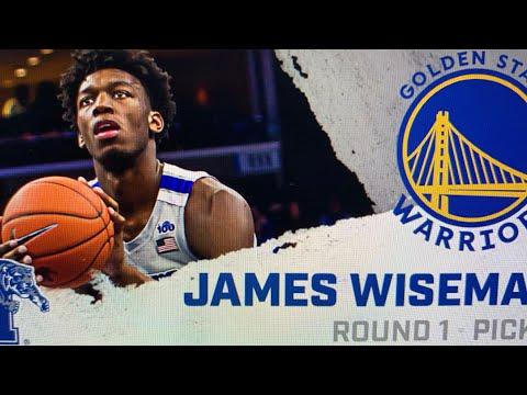 James Wiseman Golden State Warriors 2020 NBA Draft 1st Round Pick Center; Dubs Skip Ball
