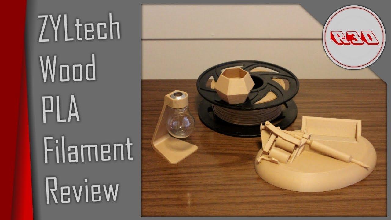 ZYLtech Wood PLA Filament Review