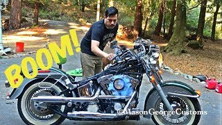 Storage Unit Find Harley Softail Carb Clean And Start up