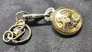 【UVレジン 100均】アンティーク風懐中時計をダイソーの新モールドで作ってみました!【初心者】Resin Antique pocket watch thumbnail