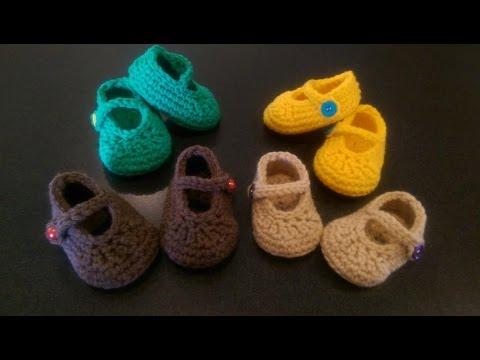 FREE Crochet Baby's 1st Mary Jane Booties