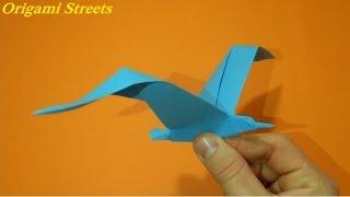 как сделать оригами чайку из бумаги