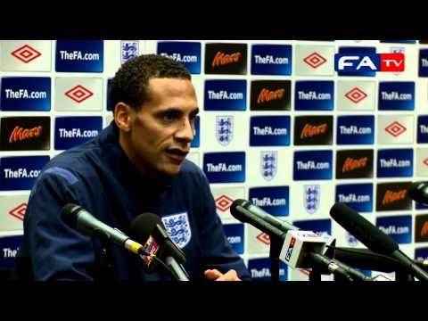 England v France - Rio Ferdinand Press Conference 17/11/10