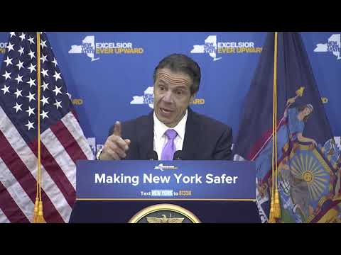 New York Gov. Andrew Cuomo announcing the new legislation.